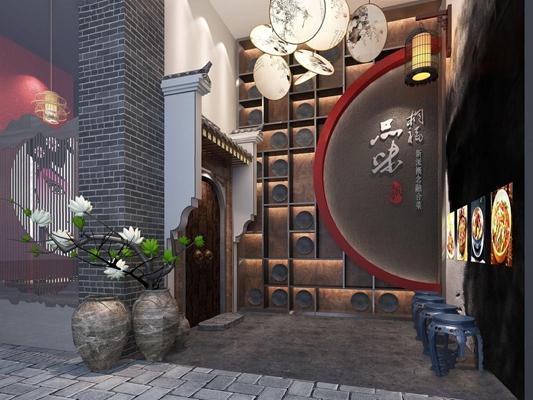 新中式客棧3D模型【ID:528280520】