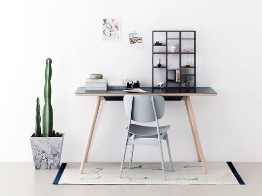 北歐書桌椅3D模型【ID:327916728】