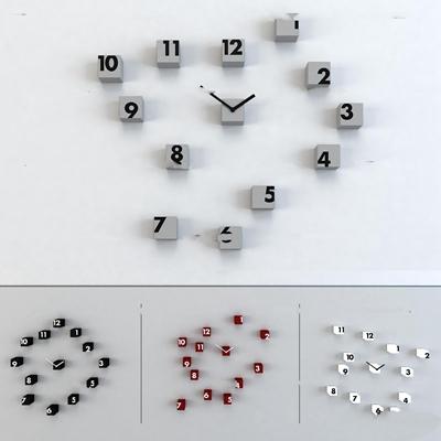 现代小方块时钟挂钟3D模型【ID:87025925】