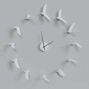 北欧创意海鸥挂钟3D模型【ID:87037727】