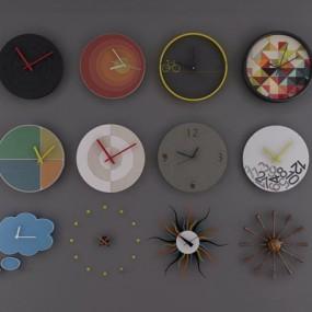 现代个性钟表挂饰3D模型【ID:87067720】