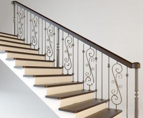 欧式楼梯3D模型【ID:87071454】
