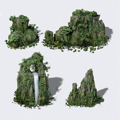 假山 3D模型