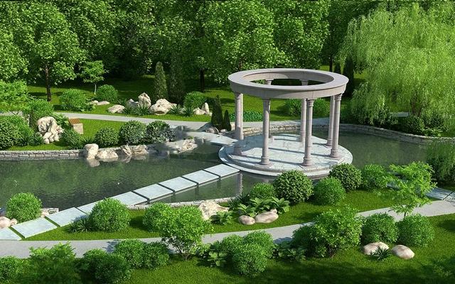 欧式公园园林景观下载3D模型【ID:87156745】