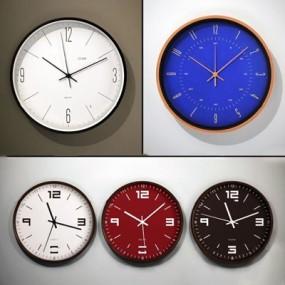 现代挂钟组合3D模型【ID:87212527】