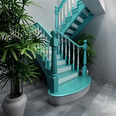 现代楼梯3D模型【ID:87226054】