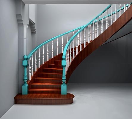 欧式楼梯3D模型【ID:87227352】