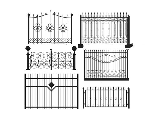 欧式铁艺栏杆围栏组合3D模型【ID:87228258】