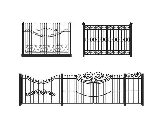 欧式铁艺栏杆围栏组合3D模型【ID:87228350】