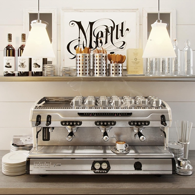 现代商用咖啡机3D模型【ID:87231033】