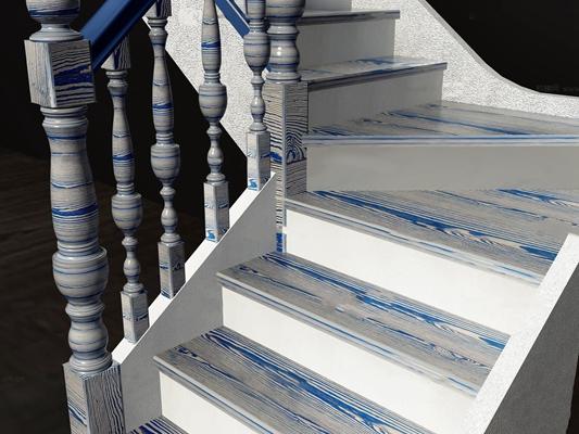 欧式楼梯3D模型【ID:87245253】