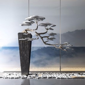 新中式松樹擺件3D模型【ID:928328178】