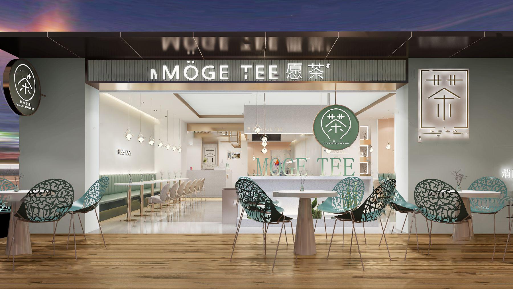 现代奶茶店3D模型【ID:643274478】