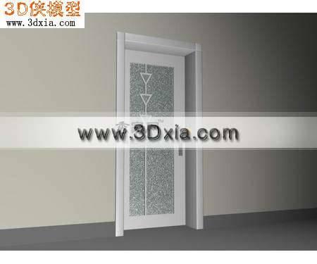 白色的门3D模型【ID:8764】