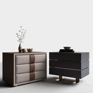 现代床头柜组合3D模型【ID:732418445】