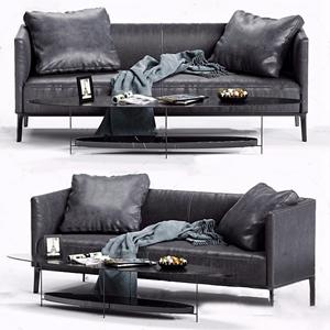 現代皮革雙人沙發3D模型【ID:931408735】