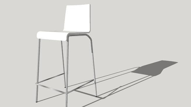 设计白色小吃凳-KWATROSU模型【ID:439994724】