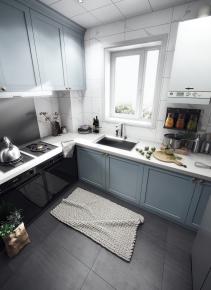現代廚房櫥柜3D模型【ID:927817547】