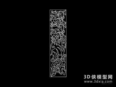 中式雕花隔斷國外3D模型【ID:929795591】
