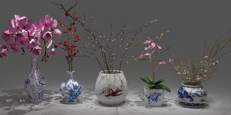 中式花瓶3D模型【ID:120615256】