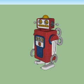 老式玩具机器人 挂钟 机器 其他 运动 钟楼 【ID:639997701】
