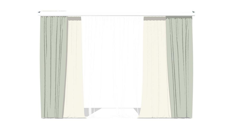 窗簾SU模型【ID:936472490】