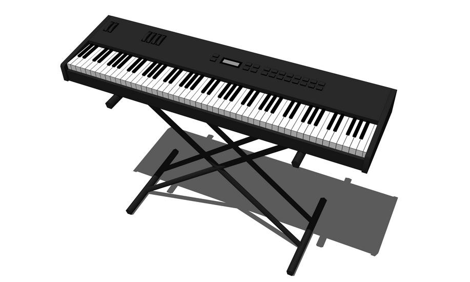 钢琴SU模型【ID:636474120】