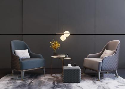 宾利Bentley现代沙发茶几组合3D模型【ID:920831630】