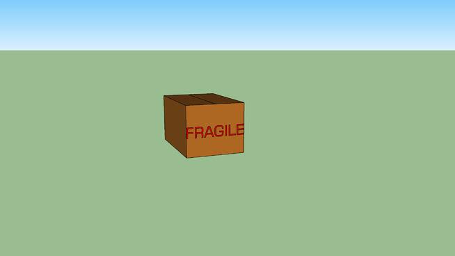 纸箱易碎SU模型【ID:838370020】