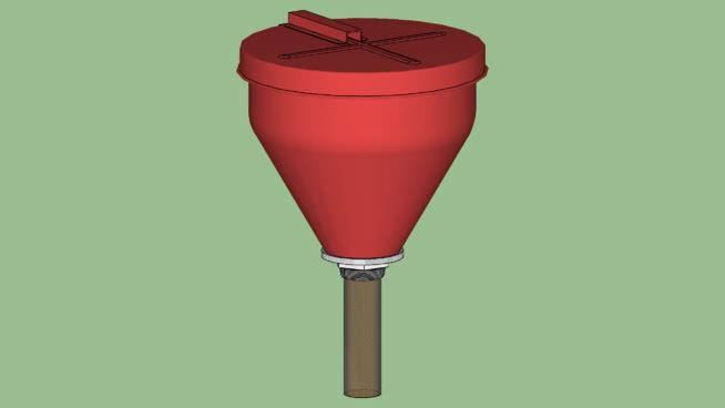工業系列-設備-容器-桶-金屬易燃物安全漏斗SU模型【ID:939999510】