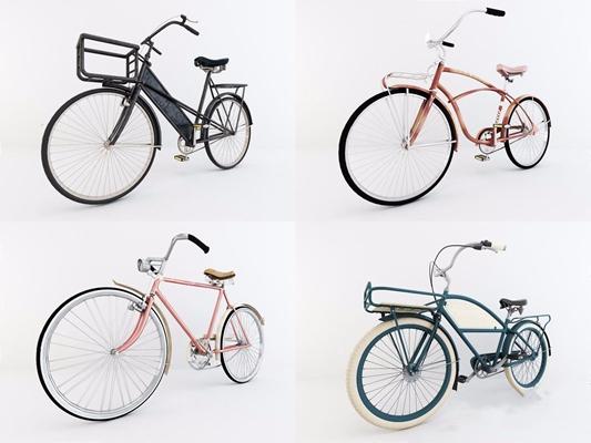 復古自行車3D模型【ID:928207905】