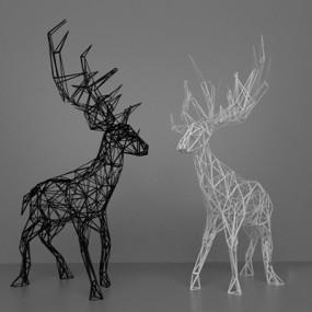 现代雕塑3D模型【ID:326235841】
