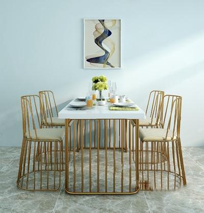 餐桌椅组合3D模型【ID:120020871】