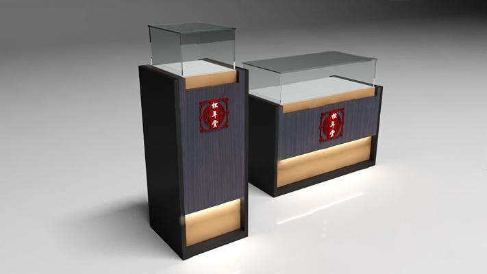 现代珠宝柜3D模型【ID:926226914】