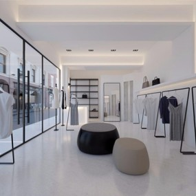 现代服装店3D模型【ID:528032471】