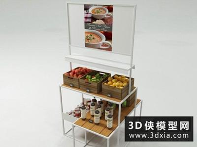 超市货架国外3D模型【ID:229491382】