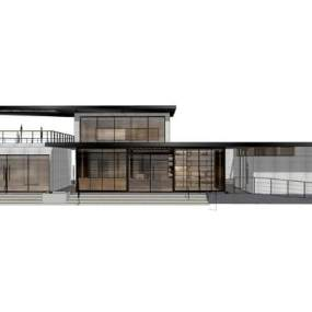 现代别墅SU模型【ID:248605316】