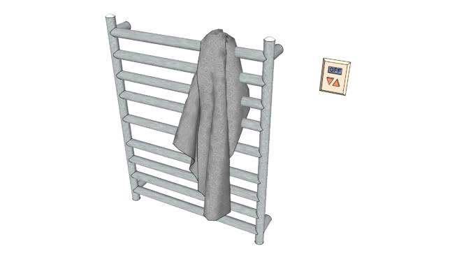数字控制毛巾取暖器SU模型【ID:740002996】