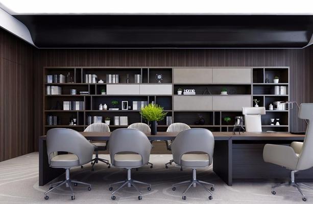 现代总经理办公室3D模型【ID:728096643】