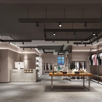 工業風時尚服裝店3D模型【ID:528453429】