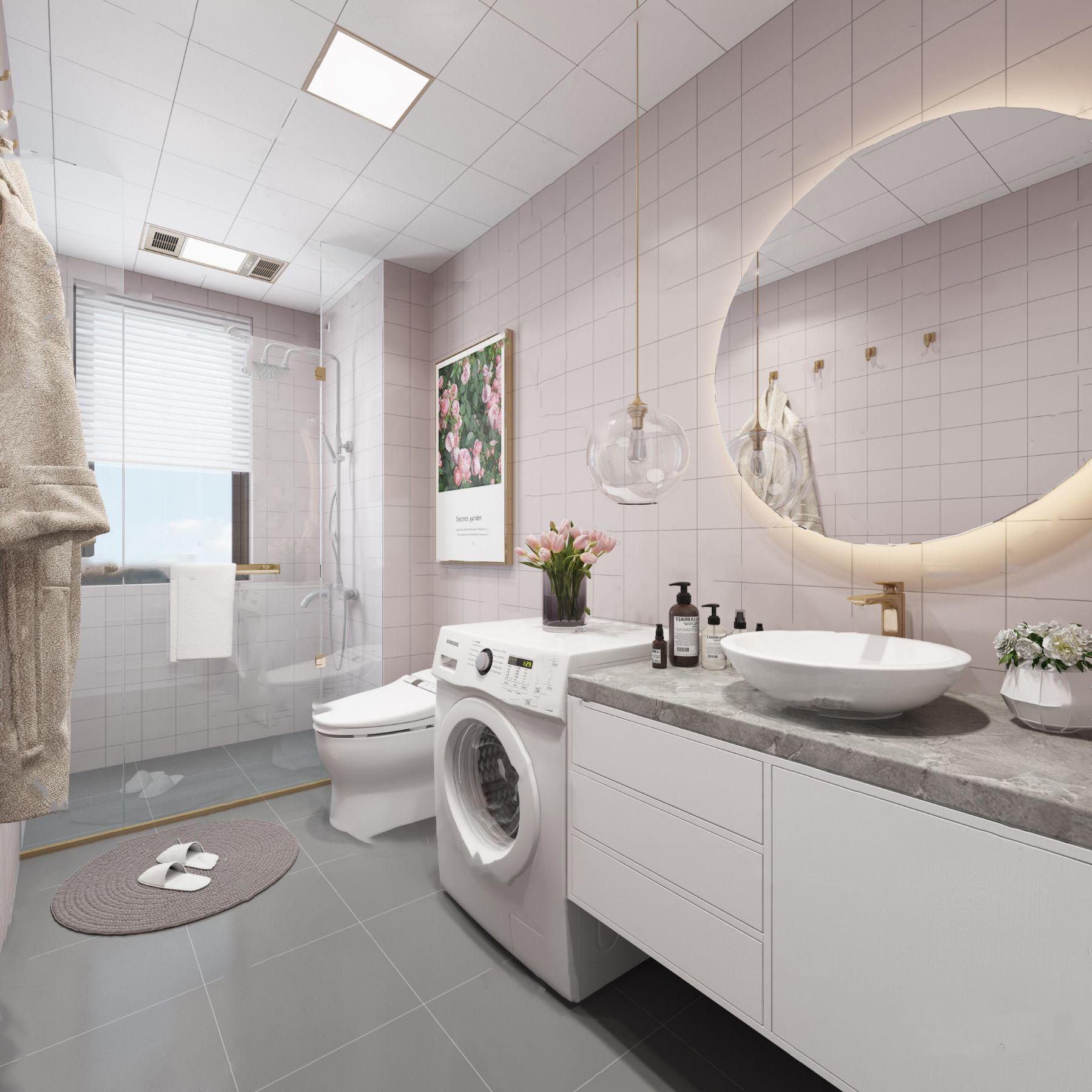 北欧浴室卫生间3D模型【ID:542180501】