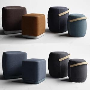 现代沙发凳组合3D模型【ID:420828341】