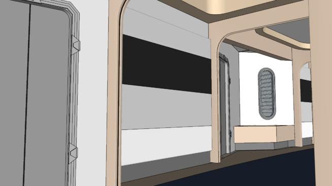 走廊-十前鋒-美國航空公司DSU模型【ID:440005004】
