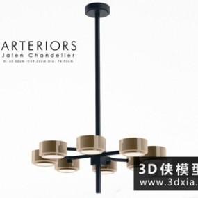 现代吊灯国外3D模型【ID:829551713】