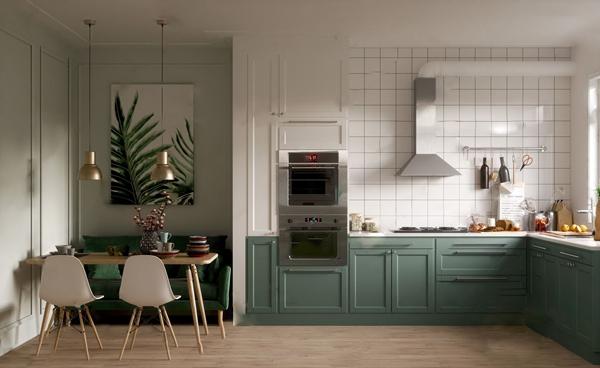 北歐廚房3D模型【ID:546259358】