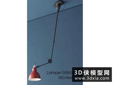 現代長臂壁燈國外3D模型【ID:829754871】