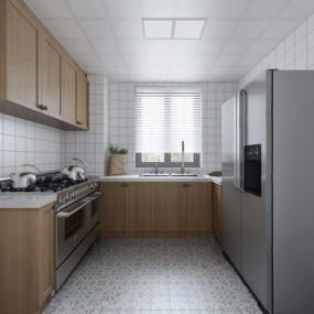 北欧厨房3D模型【ID:528281056】