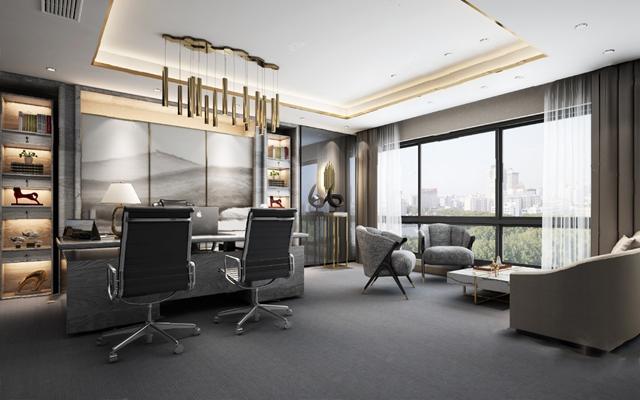 现代办公室3D模型【ID:620611058】