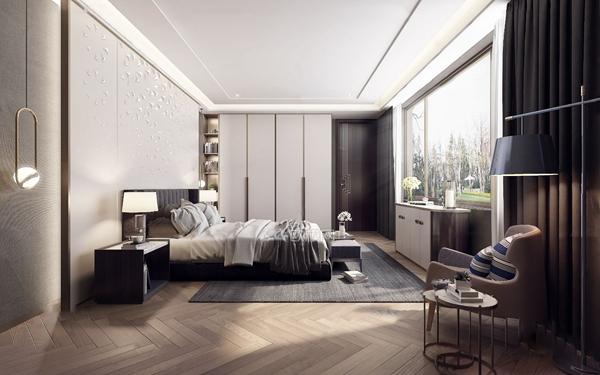 现代卧室3D模型【ID:545862032】