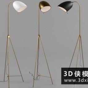现代落地灯国外3D模型【ID:929352046】